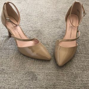 Chinese laundry nude color shoes